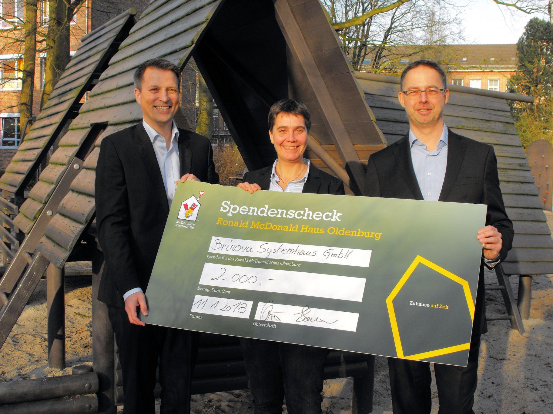 BRINOVA Systemhaus GmbH erneuert 2018 Patenschaft mit dem ... on